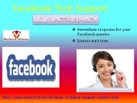 Enjoy earnest services of Facebook Tech Support 1-877-350-8878 at curtailed prices