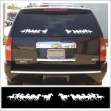 Buy Decal kit SMALL RUNNING HORSE GROUP for horse truck & trailer WHITE motorcycle in Mentor, Ohio, United States, for US $12.98