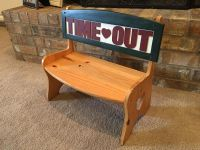 Wood Time-Out Bench