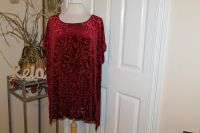 $10 New no tags Ava & Viv red Christmas Holiday Blouse, 3X