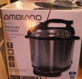 New Amblano 1000w Electric Pressured Cooker Does not Have Inner Pot Rack, Measuring Cup