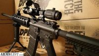 For Sale: DPMS Panther AR 15 rifle w/ 3x Magnifier, Red Dot, Quad Rail, Flip up Sights AR 15 Rifle