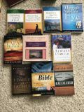 Christian books, $1-3 ea and $5 for the Bible