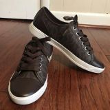 Michael Kors Brown Leather Sneakers Size 8