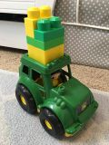 Mega blocks with tractor and farmer