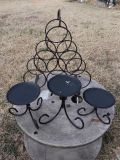 Medal Wine Rack & 3 Candle Holders