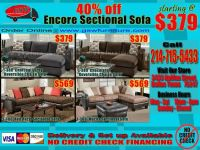 $379, Grey microfiber sectional sofa chaise