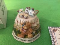 The Linda Grayson Collection- Tea Party Teddies and Friends - Tea Party Teddy . Collectible in Box. Photo of Bottom Attached