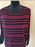 Charming Charlie Size Large Sheer Batwing striped Sweater Top Women's Shirt NWT