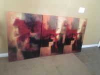 3 Panel Canvas Wall Paintings