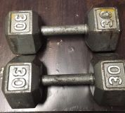 Set of 30 lb hand weights