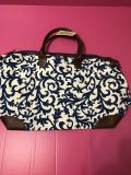 Blue and white paisley pattern bag