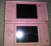 Nintendo DS Rare Pale Pink with Carry Case & Rare 3DS game