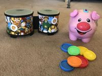 Toddler Drums and play Piggy Bank $10