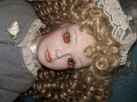 Beautiful old antique china doll still in the box!
