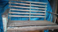 Very antique slotted porch swing..in solid condition