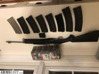 For Sale/Trade: Ruger MINI-14 Ranch Stainless 500 rd Ammo 9 magazines