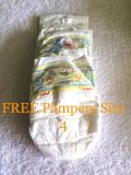 Free pampers size 4. Picture shows 2 or 3 pampers