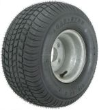 """Find 2-Pack Kenda Trailer Tire On 7""""x8"""" Rim #5246 215/65-8 215/65 LRC 4Lug Galvanized motorcycle in Naples, Florida, United States, for US $108.95"""