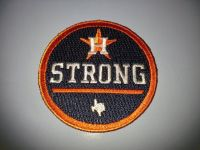 "ASTROS ""Houston Strong"" Official Game Jersey Logo Patch - New - Call Now!"