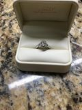 1.52CT(S) Oval Brilliant Cut Engagement+Wedding Band