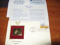 GOLD ARTIC TUNDRA GYRFALCON COLLECTORS STAMP