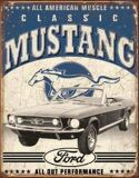 """Sell FORD MUSTANG CLASSIC VINTAGE NEW OLD LOOK STEEL TIN SIGN """"FREE U.S. SHIPPING!!!"""" motorcycle in Brooksville, Florida, United States, for US $14.98"""