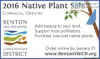 Benton SWCD Native Plant Sale ndash It rsquos time to place you