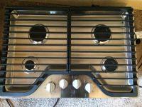 """Whirlpool 30"""" 4 Burner Gas Cooktop in Stainless Steel"""