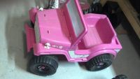 barbie power wheels pink jeep OBO