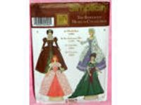 "Uncut Simplicity Museum 11 "" Barbie Doll Historical Dress"