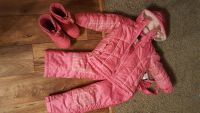 Size 4T pink snowsuit with boots ..excellent condition