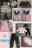18 months/month AKA 12m-18m Baby GIRL Clothes Variety MLB Cubs, outfit sets, pants, onesies ++ Plus Hair Accessories-Bow-Clips
