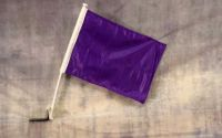"Buy Solid Purple Decor CAR FLAG 12"" x 15"" x 16-1/2"" Window Roll Up Banner + pole motorcycle in Castle Rock, Washington, United States, for US $10.95"