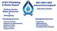 AMC PLUMBING 281-460-1402 Affordable Quality Emergency Plumber 281-460-1402