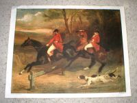 "Large Fox Hunt Print on Canvas - Printed in Italy - 29"" x 22 1/2"""
