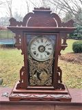 Victorian Walnut Antique Clock