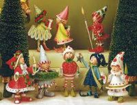 NEW PATIENCE BREWSTER DASH AWAY ELVES SET OF 8