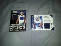 2 Dallas Cowboys Jersey Cards.  Piece of Jersey they have worn