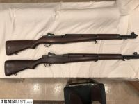 For Sale: pair of M1 Garand National match rifles beautiful