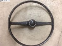Black Bus Steerng Wheel with Horn Button