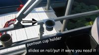 Buy Diamond Plate cup holder fits 1 inch pontoon boat rails, golf carts- cars-trucks motorcycle in Marengo, Illinois, United States, for US $10.00