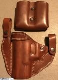 For Sale: Falco leather glock 19/23 holster & double mag holder