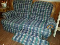 Loveseat Rocker/ Recliner 60 inches wide, 36 inches deep