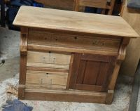 Beautiful Antique Dresser Cupboard Night Stand End Table Drawer Shelf Storage Wood Sand Stain Pa...
