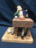 """1982 NORMAN ROCKWELL """"BORED OF EDUCATION"""" FIGURINE"""