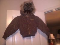 $15, Baby Phat Girls 6X Brown Parka with Faux Fur Lined Detachable Hood