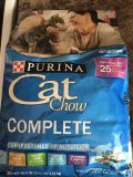 Purina cat chow cat food 3.15 pound bag new!