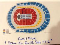 Garth Brooks & Trisha -Saturday, December 16th- 2 Tickets, Section 106, Row EE, Seats 11 & 12-Excellent Seats