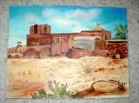Tumacacori Mission - Original Oil on Canvas - Signed- JP Kenney '79